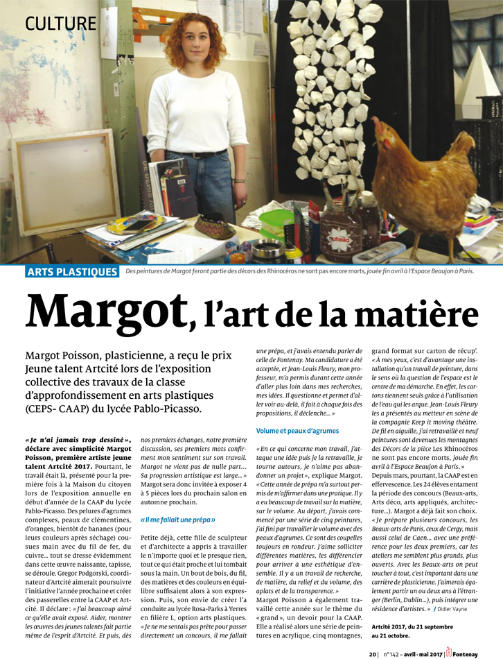 Article Margot Poisson