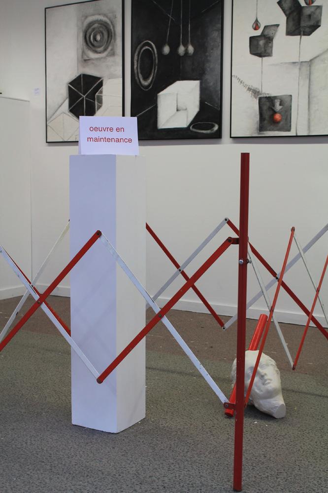 Installation d'Elie BOUISSON (au premier plan)