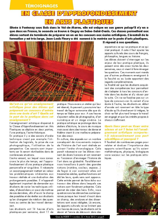 Page 8 de Quoi_de_neuf_22_Arts_et_sciences_hiver_2012-3