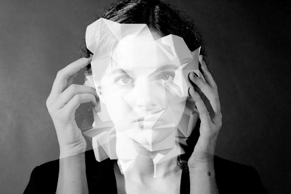 Visage Origami Travail photographique et numérique